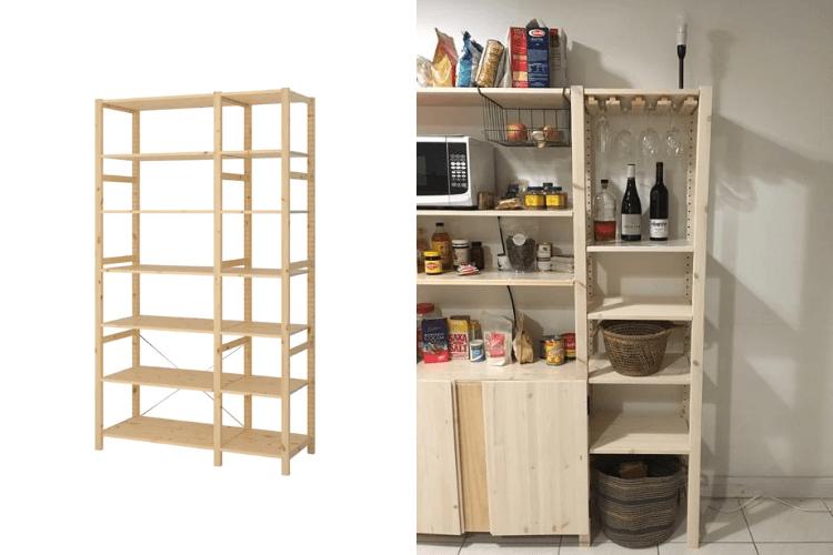 ivar wooden wine glass rack