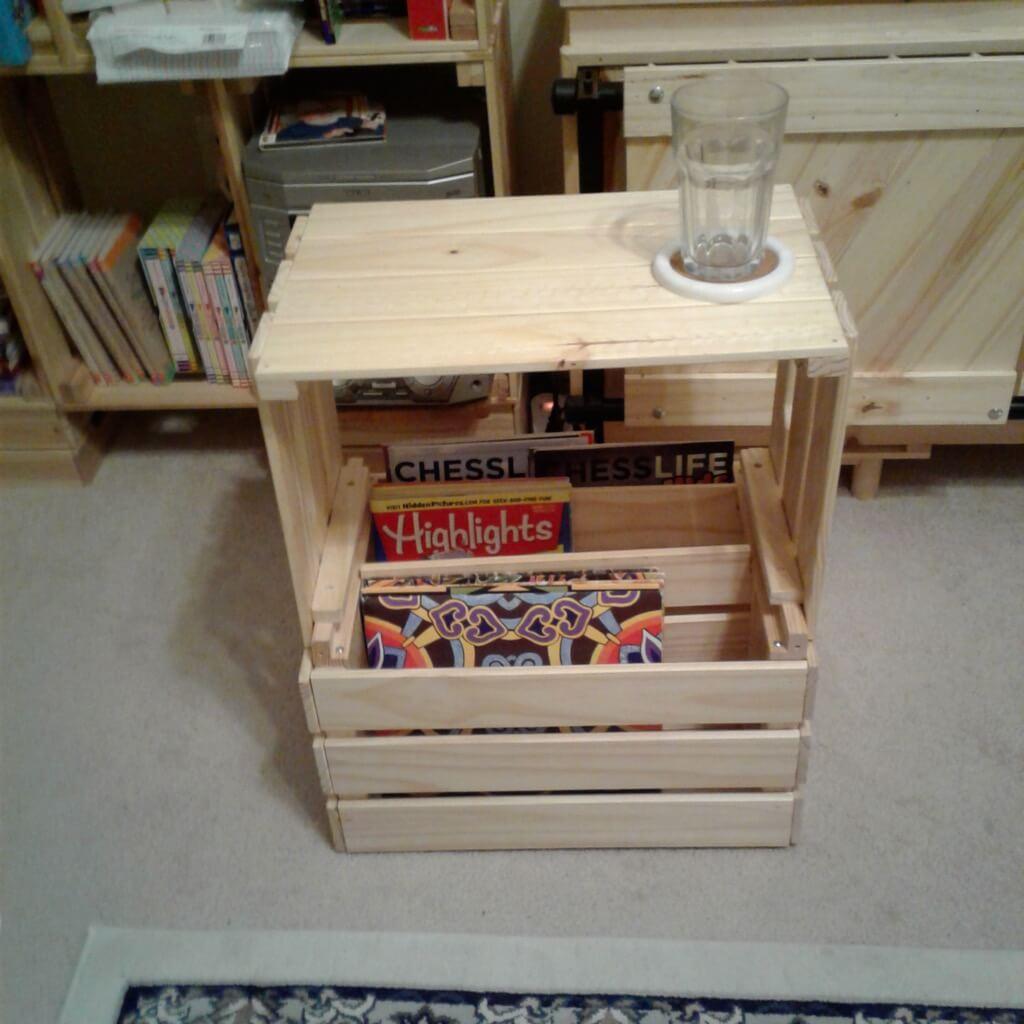 IKEA KNAGGLIG magazine rack side table