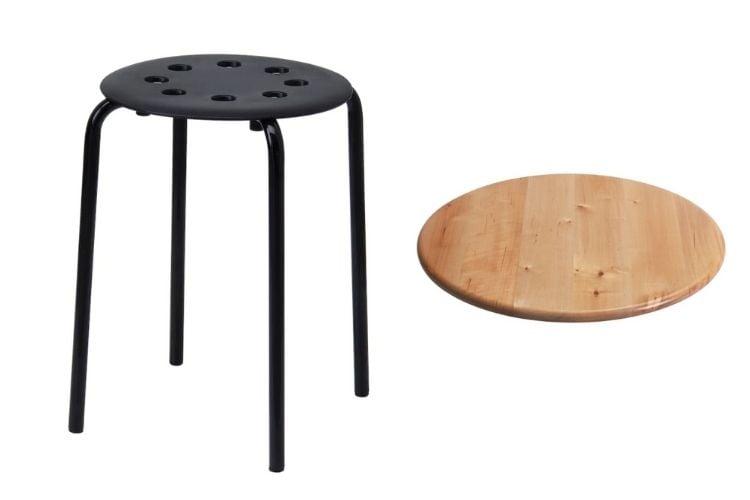Marius stool and Snudda lazy susan