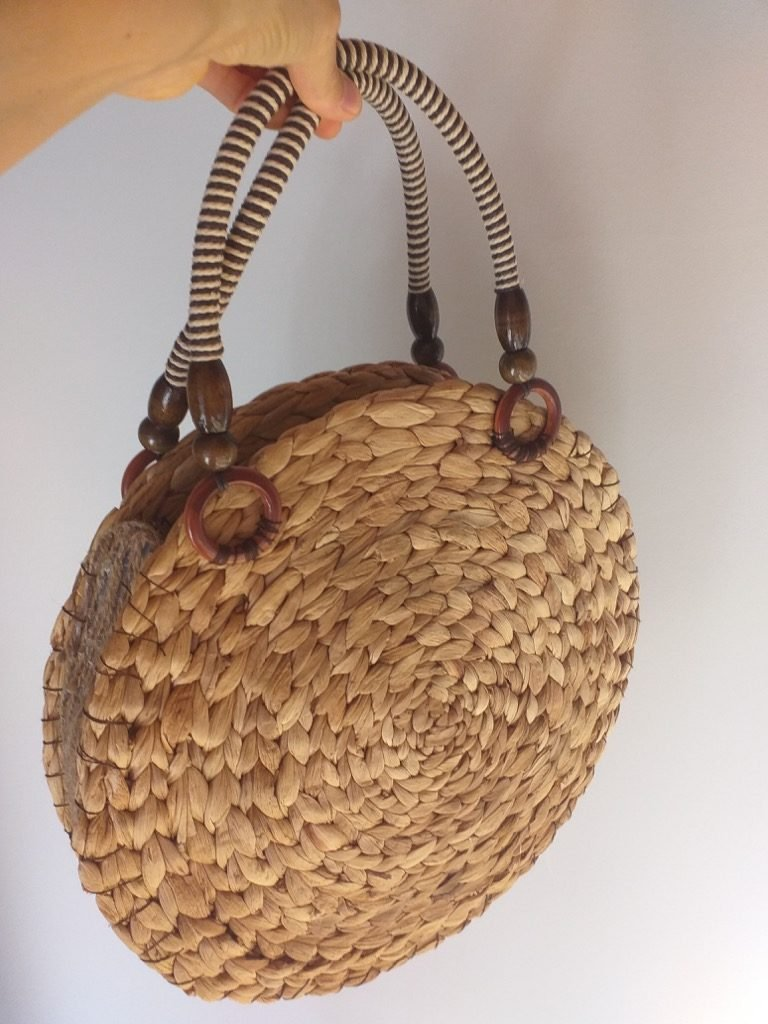 DIY straw bag - IKEA hack