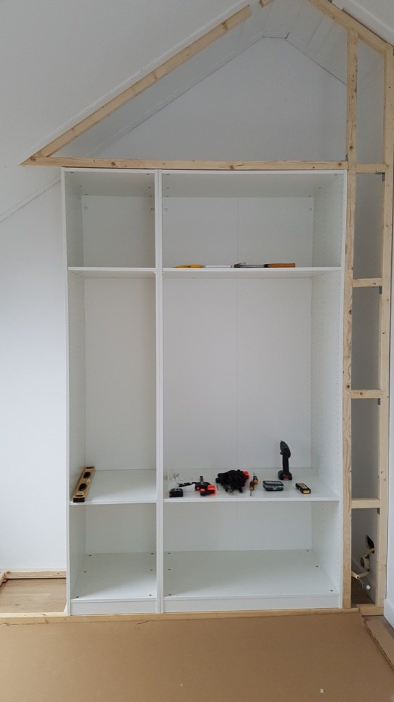placement of PAX closet under sloped ceiling