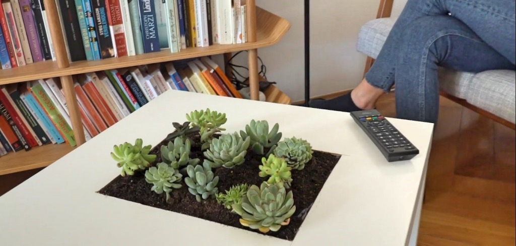 DIY succulent table IKEA Hack