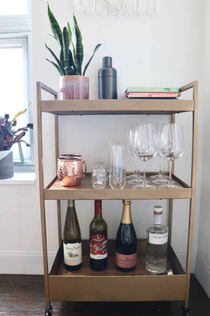 Ikea Bar Cart Hack That S Not The Usual Gold Marble Ikea Hackers