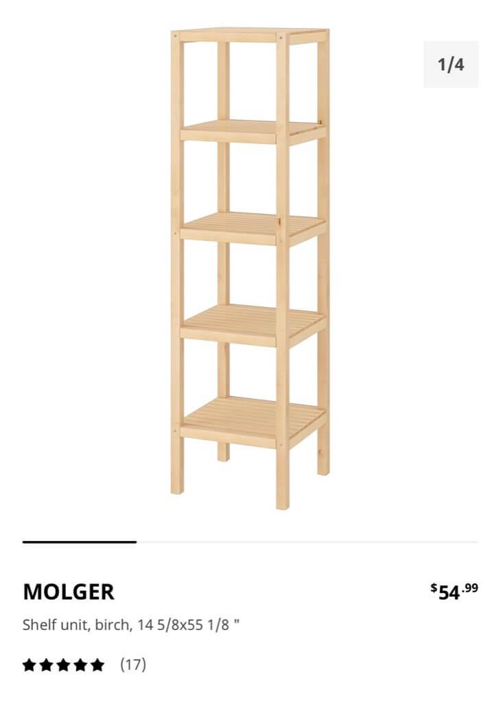 IKEA MOLGER shelf unit