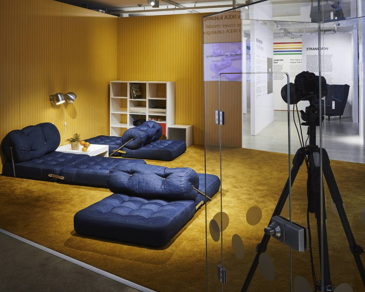 """IKEA Catalogue Through The Ages"""" exhibition at the IKEA Museum in Älmhult, Sweden"""