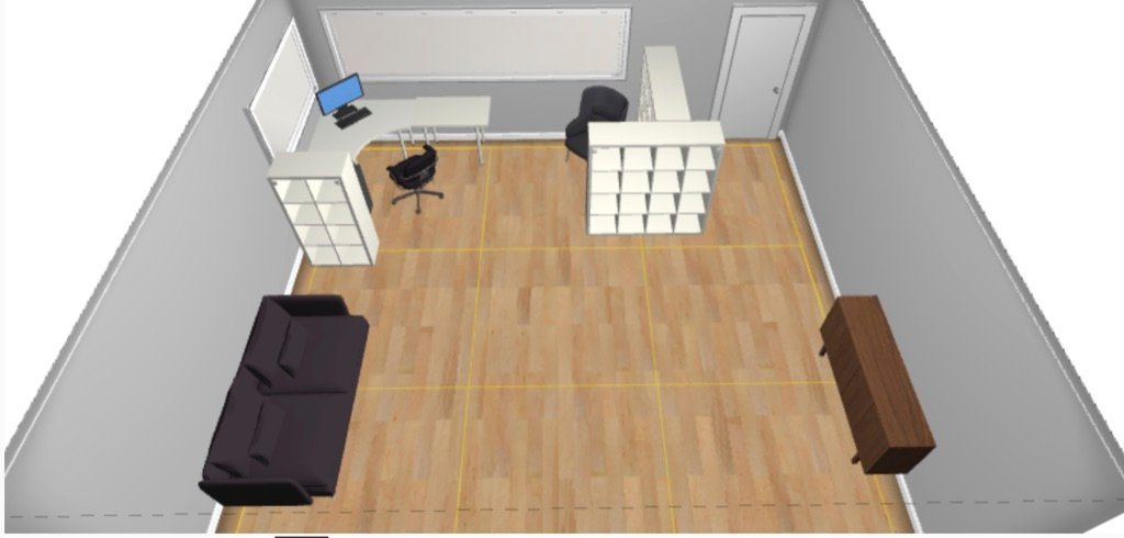 remote learning nook IKEA plan