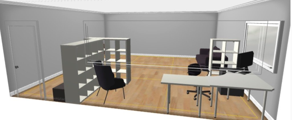 remote learning nook