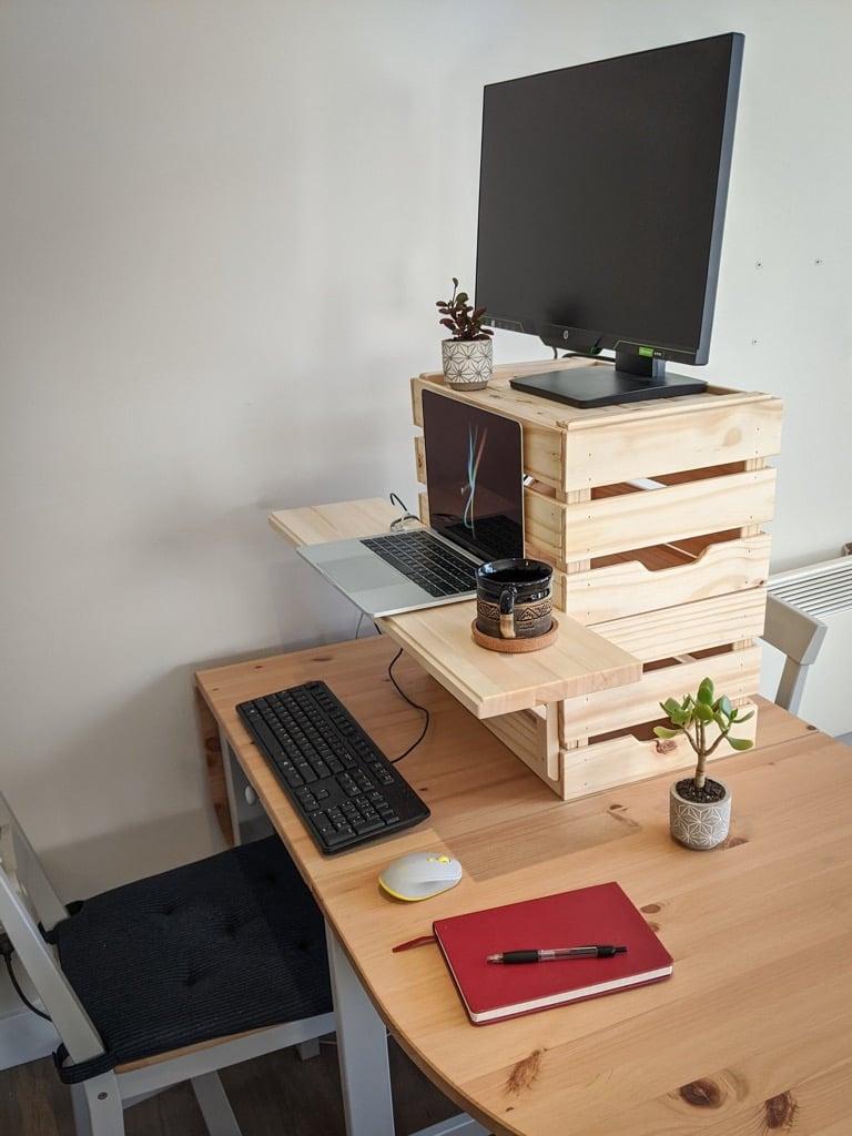 crates desk riser