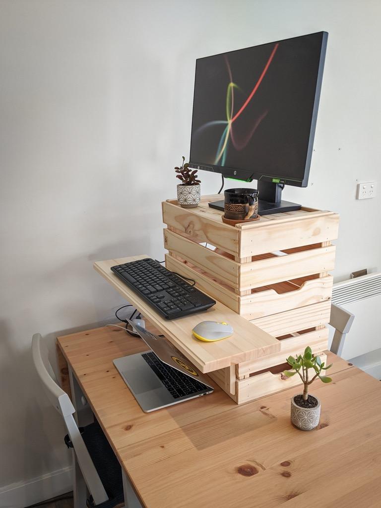 IKEA crates desk riser