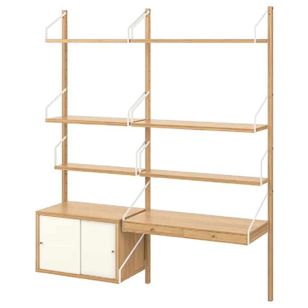 IKEA SVALNAS wall mounted workspace combination