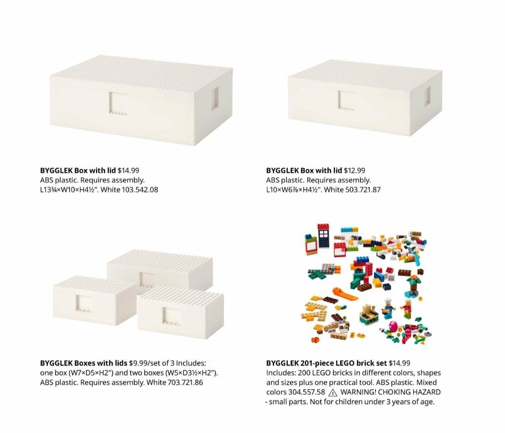 IKEA LEGO BYGGLEK product range