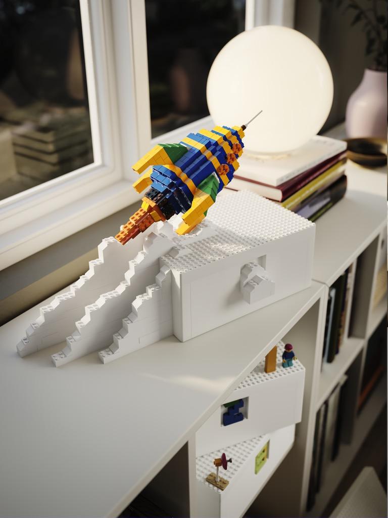 IKEA LEGO BYGGLEK build around it