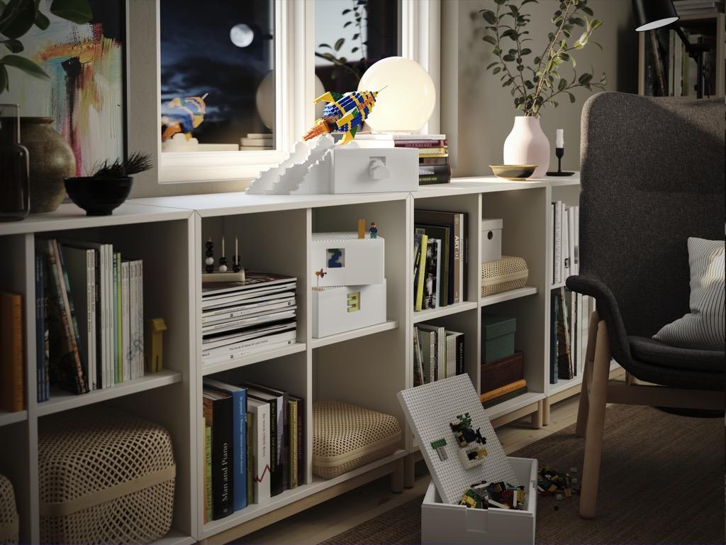 Fits into IKEA storage