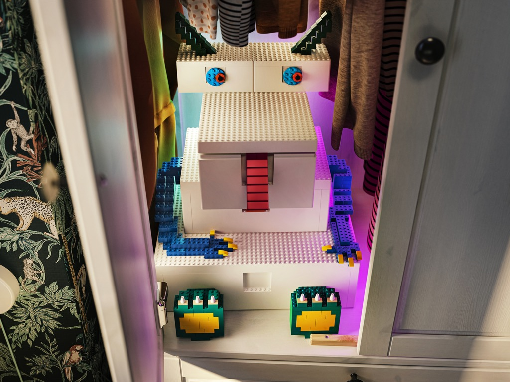 IKEA LEGO BYGGLEK boxes are giant bricks
