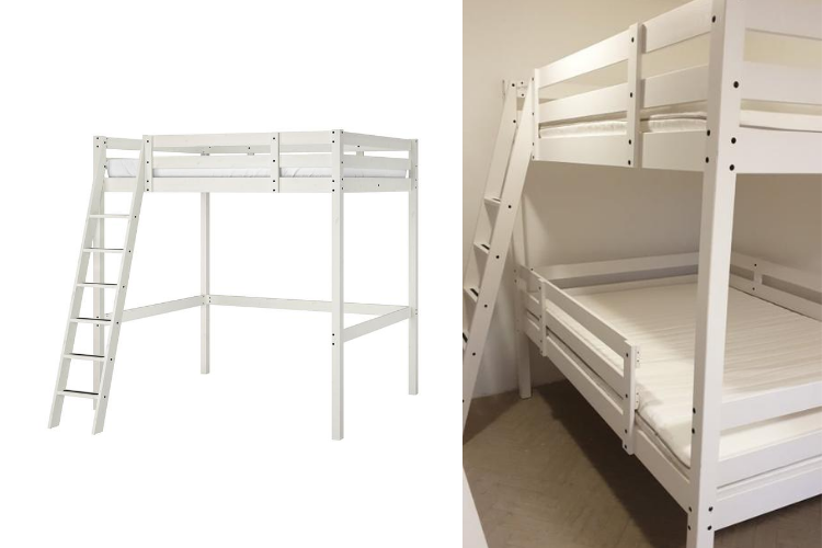 From Stora Loft Bed To Double Bunk For 4 Ikea Hackers