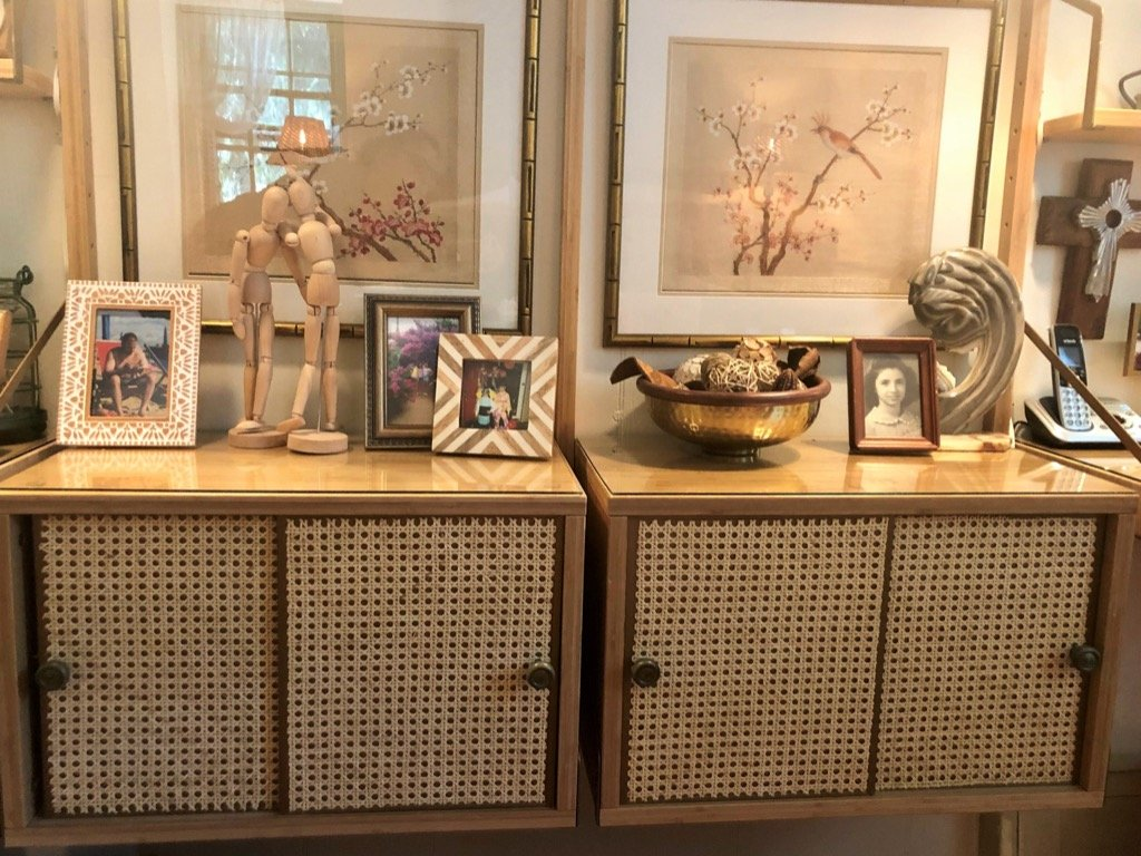 cane wall cabinet. Rattan wall cabinet