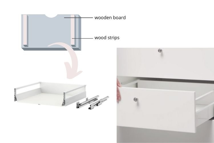 pull out table kitchen cabinet