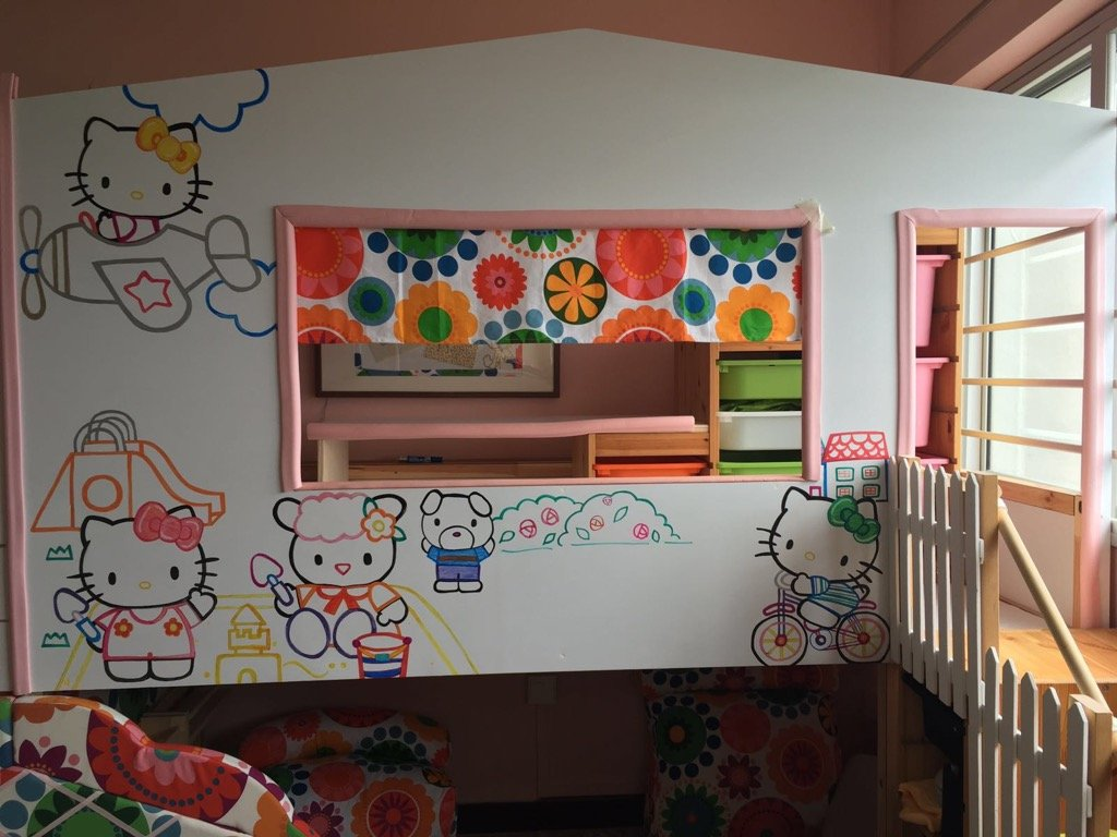 hello kitty bed and playland