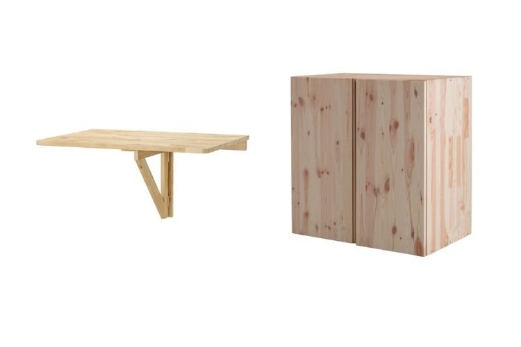 IKEA IVAR cabinet and NORBO table