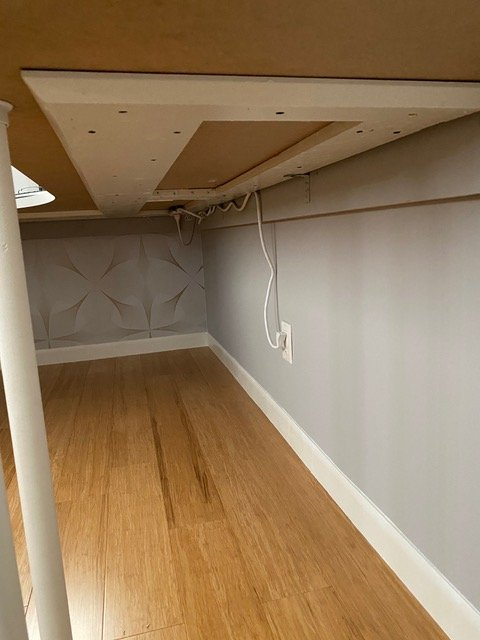 corner floating desk wall cleat