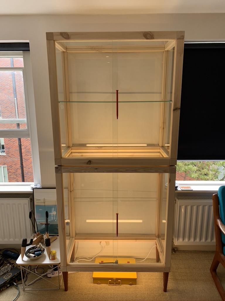 IKEA Markerad glass door pine cabinet