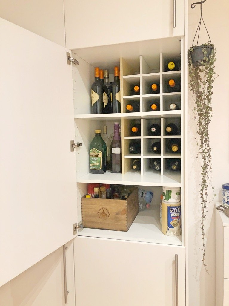 Easy Wine Rack For Metod Kitchen Cabinet Ikea Hackers