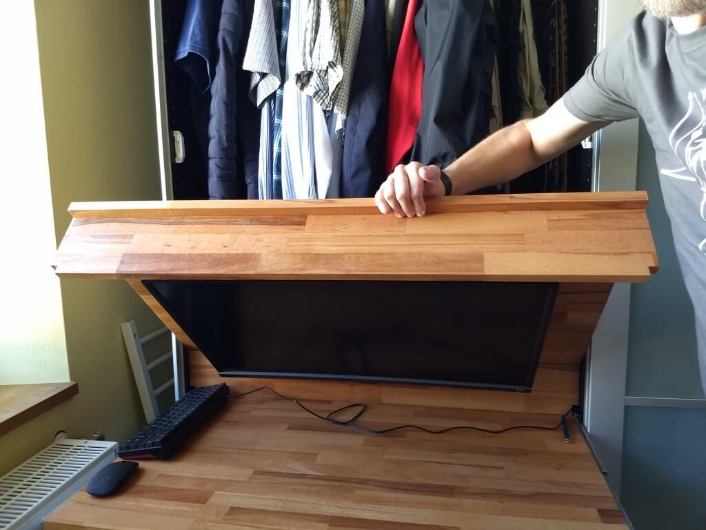 fold out desk in PAX wardrobe