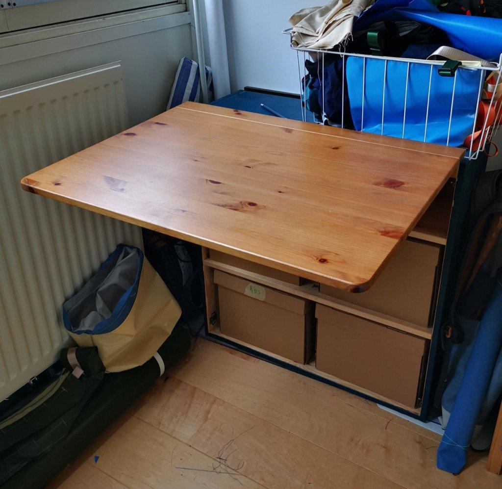 IKEA drop leaf table with storage