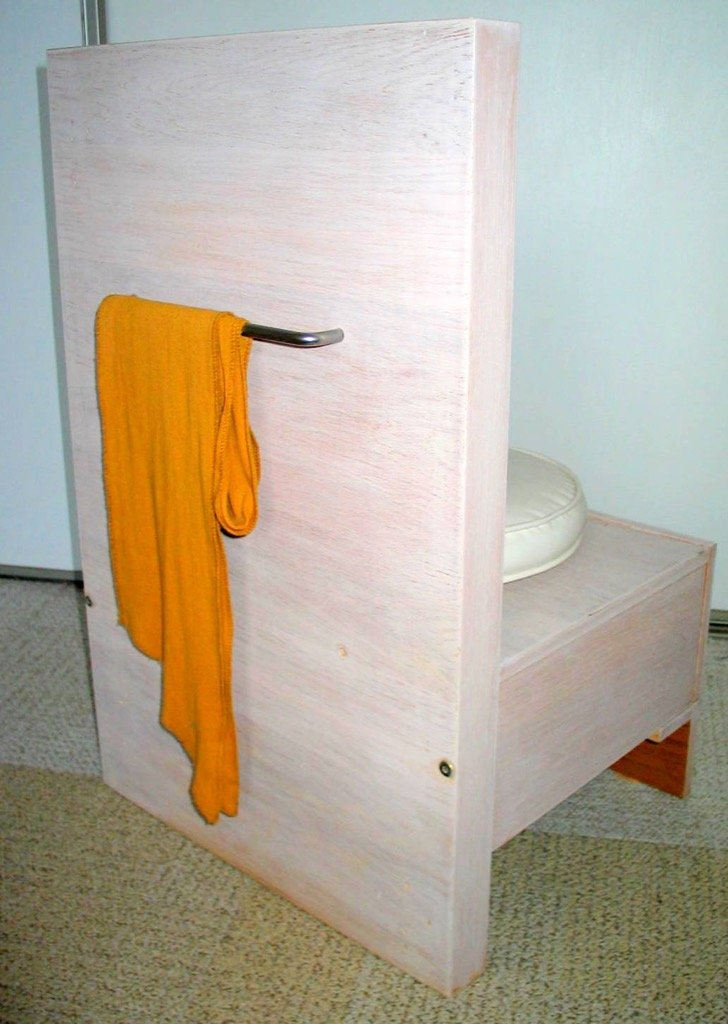 back of  valet chair