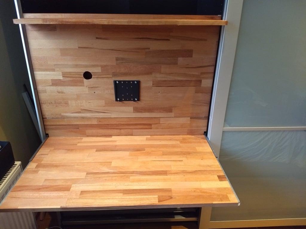 VESA mount for fold out desk