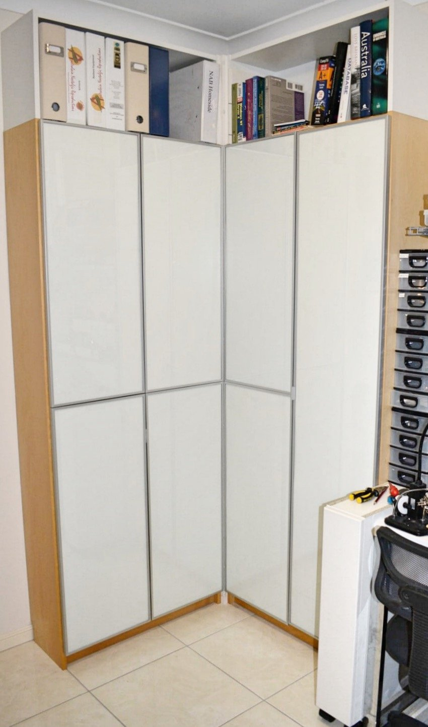 IKEA BILLY corner bookcase