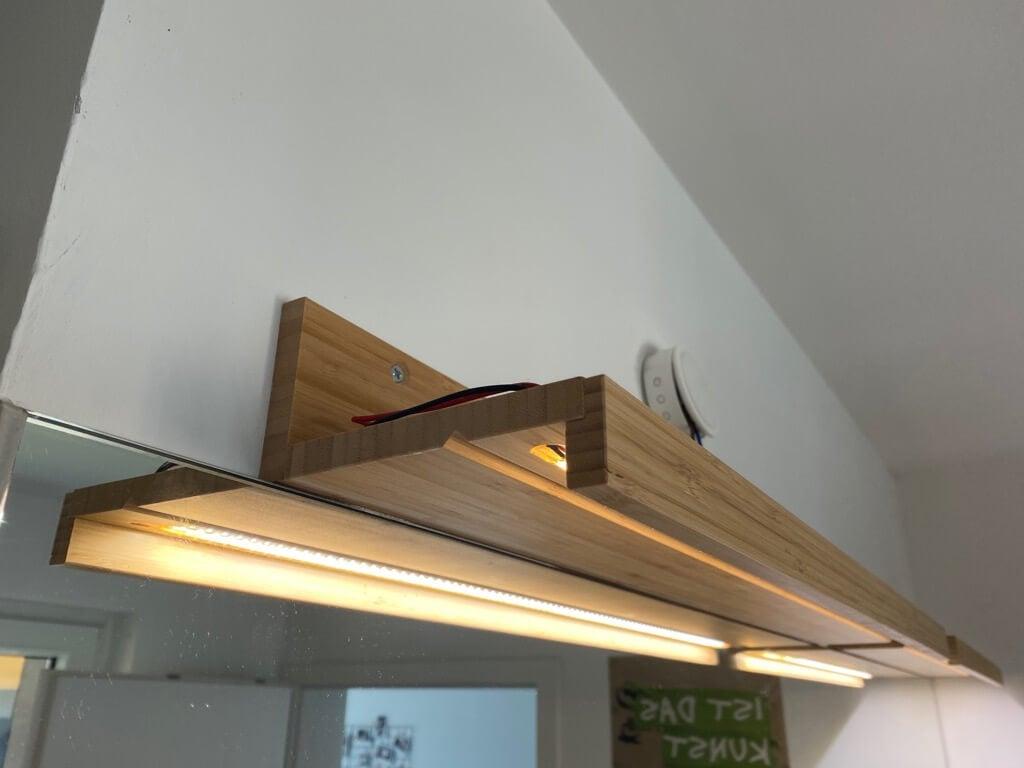 full length DIY bathroom mirror lights