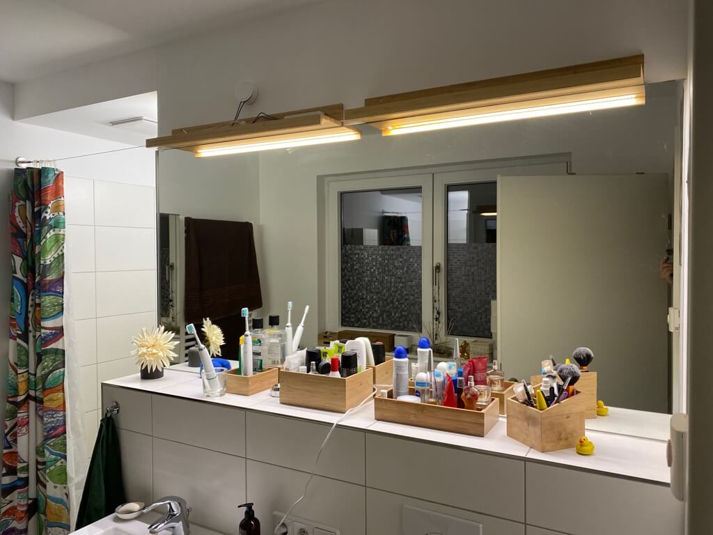 diy mirror lights