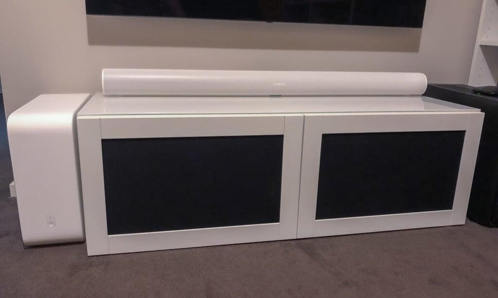 speaker fabric doors