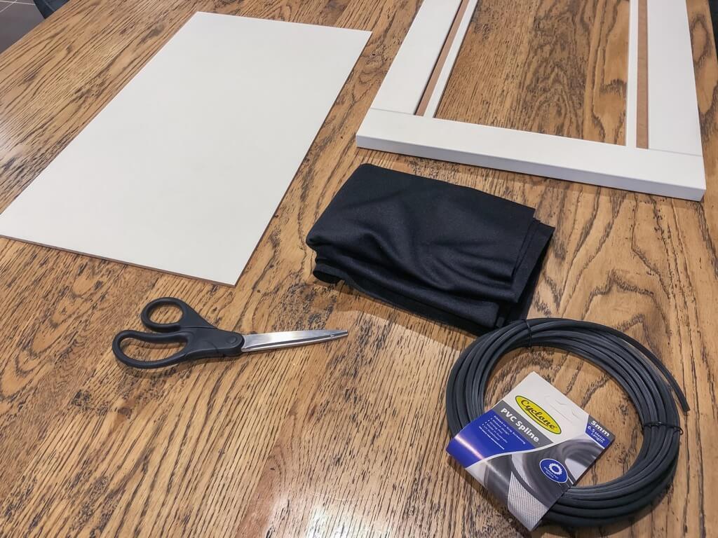 HANVIKEN doors with speaker fabric - materials