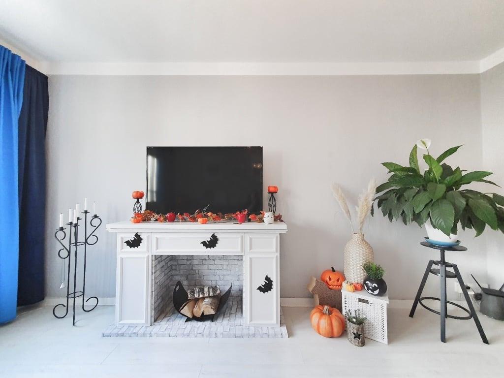 faux fireplace mantel IKEA hack