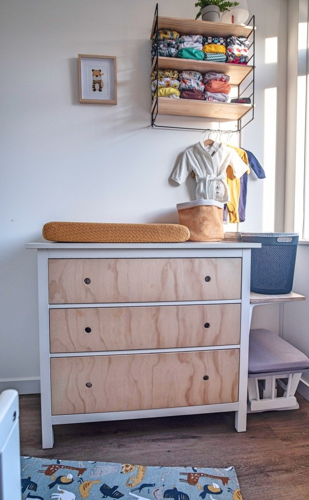 HEMNES chest hack for the nursery
