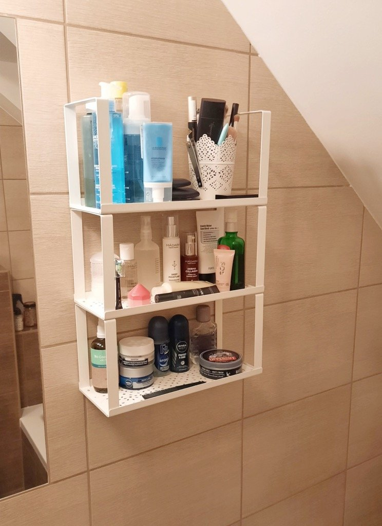 small bathroom shelf hack