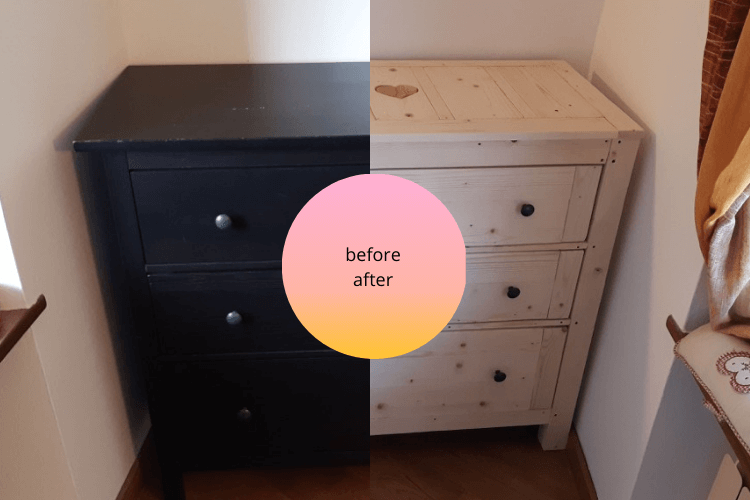 hemnes chest makeover