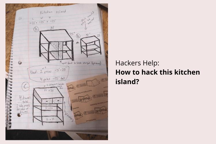 kitchen island hack