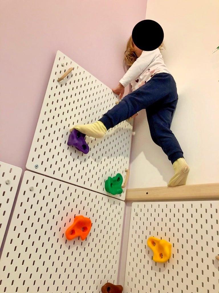 kids rock climbing wall