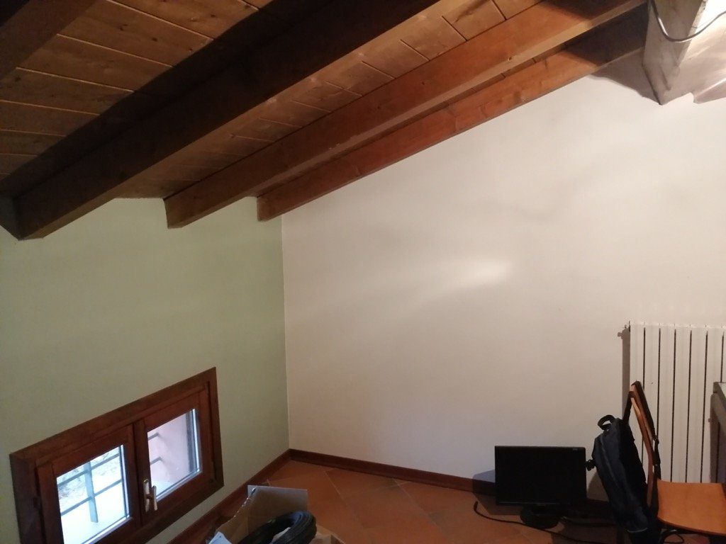 BILLY bookcases hacked to fit under sloped ceiling