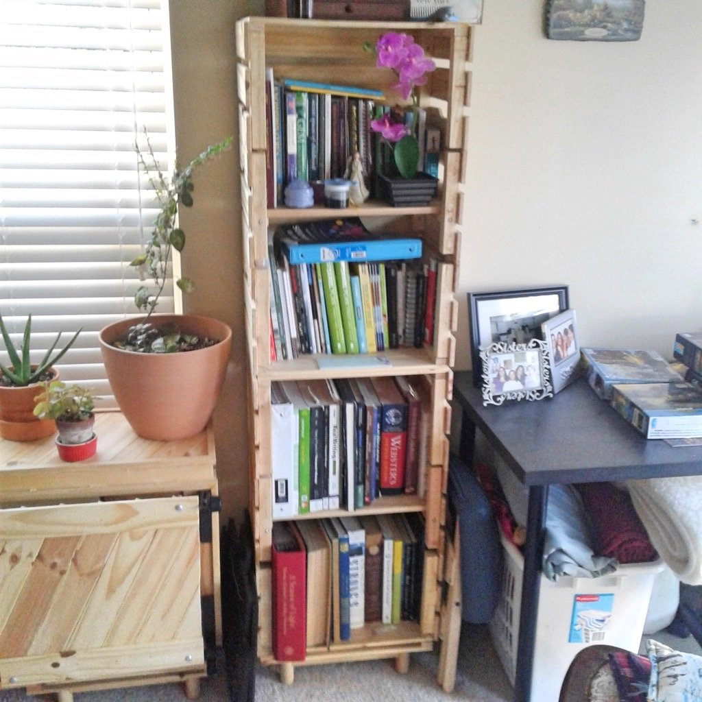 Crate bookshelf made from only IKEA items