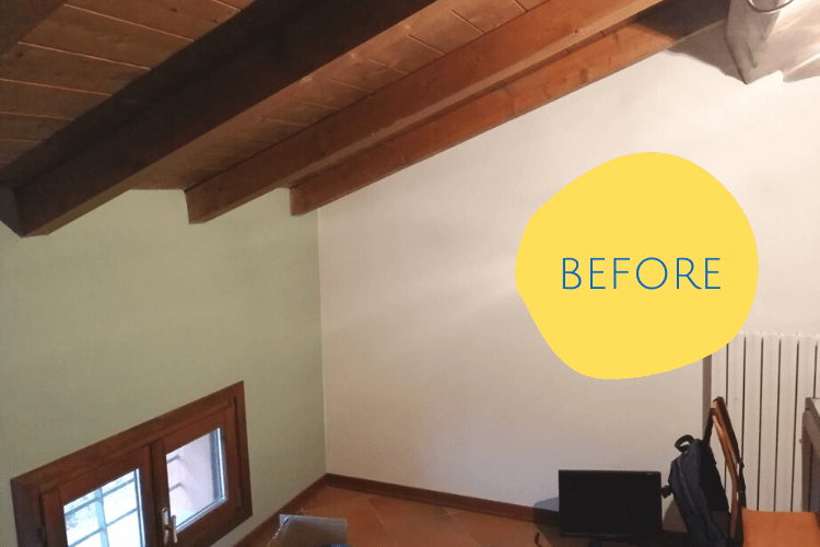 sloped ceiling bookcase