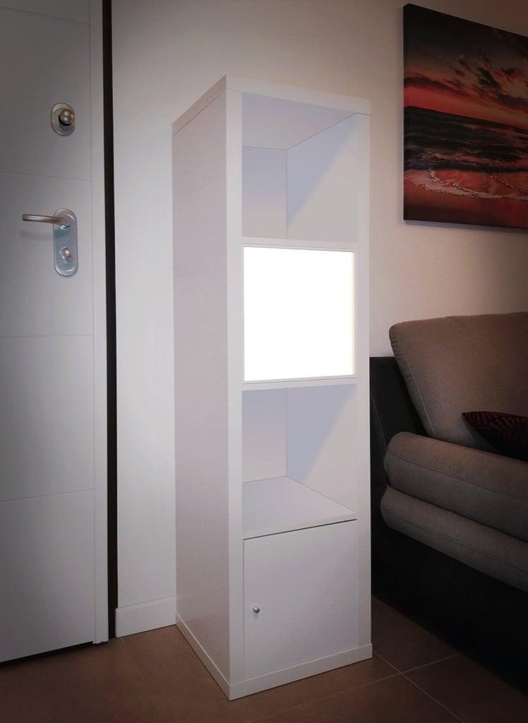KALLAX cube shelf lighting