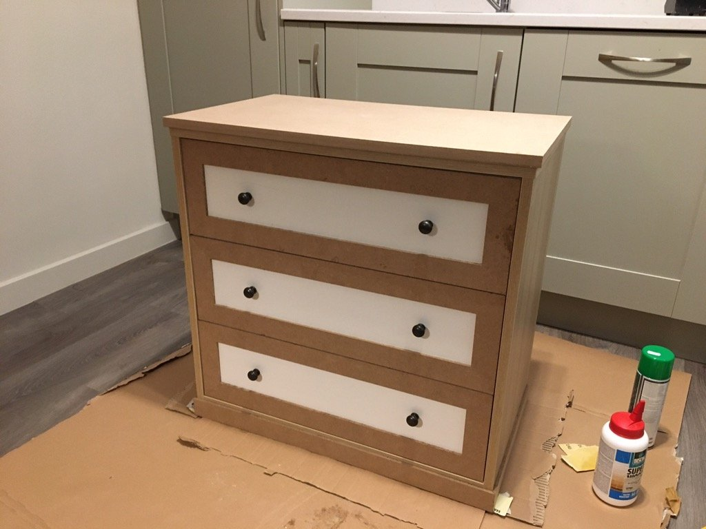 Scandi to shaker style chest of drawers.