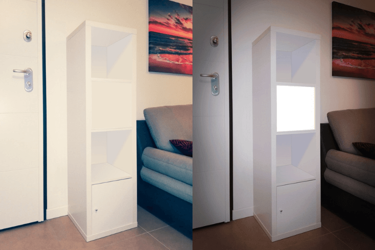 cube shelf lighting