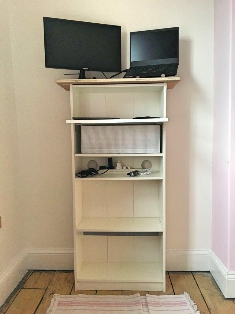IKEA GERSBY bookshelf standing desk