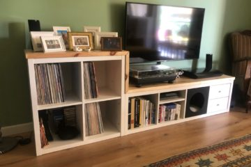 KALLAX tv and vinyl record storage unit