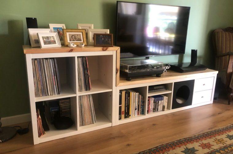 KALLAX tv and vinyl record storage unit